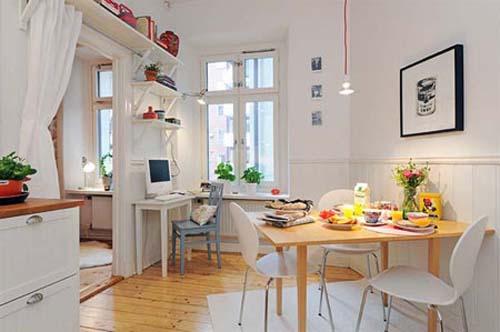 Thiết kế phòng bếp liền ăn cho căn hộ chung cư diện tích không lớn