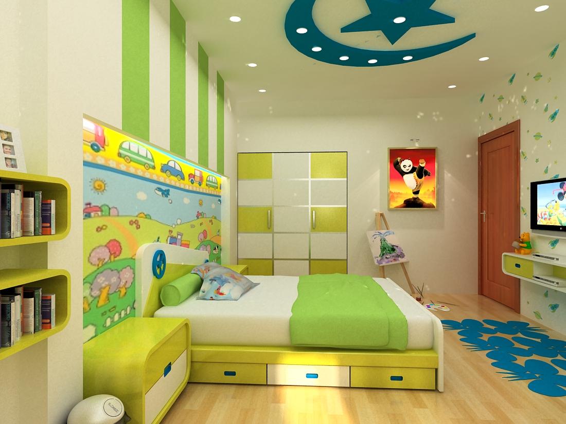 Phòng ngủ trẻ em luôn được quan tâm đặc biệt về màu sắc và bố trí công năng